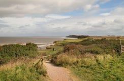 Un chemin côtier à Somerset Angleterre Photographie stock