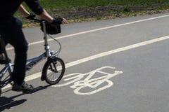 Un chemin de cycle à Londres Image stock