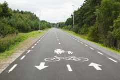 Un chemin de cycle et de pied Photo libre de droits