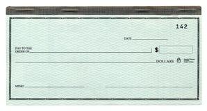Cheque en blanco Fotografía de archivo libre de regalías