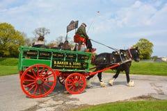 Un cheval aux vieux remorquages Photos libres de droits
