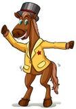 Un cheval avec un chapeau illustration libre de droits