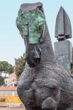 Un cheval en bronze Photographie stock libre de droits