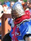 Un chevalier médiéval en portrait de bataille Photos stock