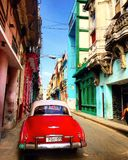 Un Chevrolet in una via di Avana fotografia stock libera da diritti