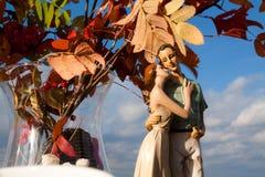 Un chiffre d'argile des couples dans l'amour Image stock