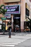 Un chitarrista della via Fotografie Stock