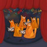 Un choeur des renards de chant Images libres de droits