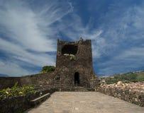 Un château médiéval, Catane ; La Sicile. Italie Images libres de droits