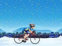 Un ciclismo dell'uomo illustrazione vettoriale