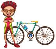 Un ciclista illustrazione vettoriale