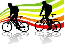 Un ciclista di due sport Fotografia Stock Libera da Diritti