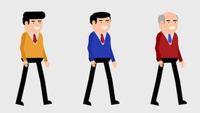 Un ciclo di camminata di tre caratteri stock footage