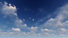 Un ciel bleu-clair avec les nuages blancs Photos stock