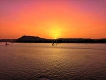 Un ciel plus profond au coucher du soleil image libre de droits