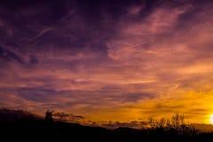 Un ciel qui m'incite à être amoureux Photo libre de droits
