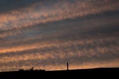 Un ciel rayé Photographie stock libre de droits
