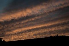 Un ciel rayé Photos stock