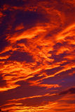 Un ciel rouge Photographie stock
