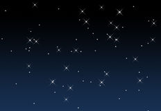 Un cielo estrellado Fotos de archivo libres de regalías