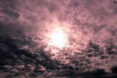 Un cielo nuvoloso Fotografie Stock Libere da Diritti