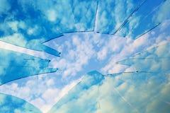 Un cielo quebrado Imagenes de archivo