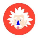 Un científico enojado, genio Carácter plano del vector para los proyectos de diseño La imagen se aísla en el fondo blanco Icono d libre illustration