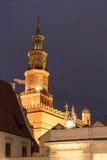 Un cierre de la torre de iglesia para arriba Imágenes de archivo libres de regalías