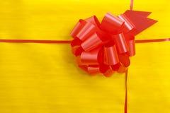 Un cierre encima de la vista del rectángulo de regalo. Fotos de archivo