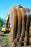 Vista única detallada del cavador móvil del excavador de la tierra Fotografía de archivo libre de regalías