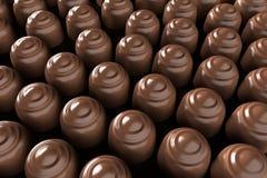 Un cierre hasta un manojo de chocolates libre illustration