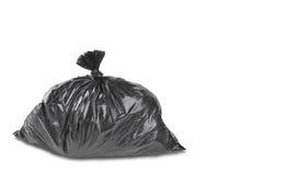Un cierre para arriba de un bolso de basura de la basura Foto de archivo libre de regalías
