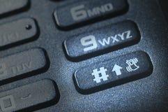 Un botón del teléfono móvil Fotografía de archivo