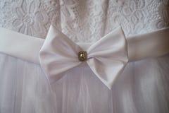 Un cierre para arriba de un vestido de boda Fotos de archivo libres de regalías