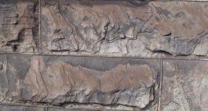 Un cierre para arriba de una pared de piedra vieja Imágenes de archivo libres de regalías