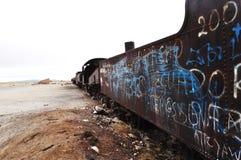 Un cimetière de train Photo libre de droits