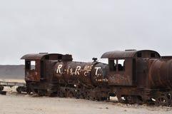 Un cimetière de train Images libres de droits