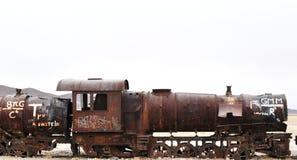 Un cimetière de train Image libre de droits