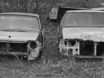Un cimitero dell'automobile Fotografie Stock Libere da Diritti