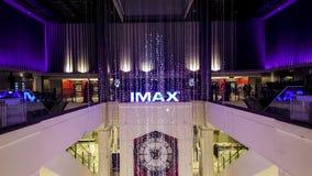 Un cinema in un grande magazzino Immagini Stock