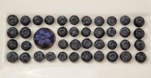 Un cioccolato con i mirtilli immagini stock