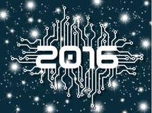 UN CIRCUITO DA 2016 BUONI ANNI CON LE STELLE BLU Immagini Stock Libere da Diritti