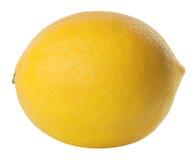 Un citron entier d'isolement sur le blanc Image libre de droits