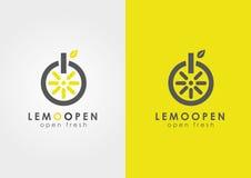 Un citron un commutateur Affaires modernes de technologie Image stock