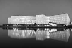 The UN City in Copenhagen and its reflection royalty free stock photo