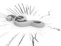 Un clef triplo tridimensionale Fotografie Stock Libere da Diritti