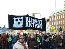 UN Climate Change Demonstration Stock Photo