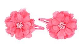 Un clip de cheveu de fleur photographie stock