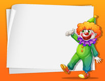 Un clown près d'un espace vide Photos stock