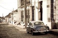 Coche antiguo, Trinidad fotos de archivo